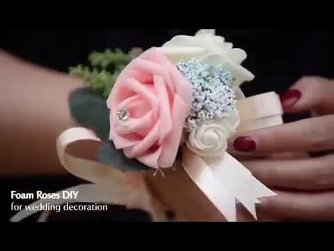 Foam Roses DIY For Wedding Decoration