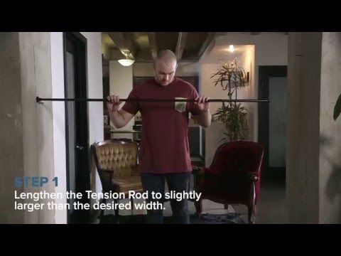 Tension Rod Room Divider Kit How To Video #DivideAndConquer