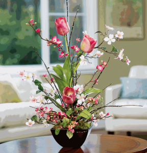 Artificial flower centerpiece