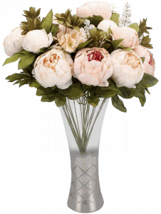 Duovlo Fake Flowers Vintage Artificial Peony