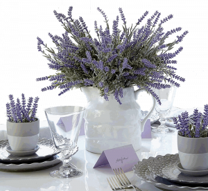 Heart to Heart Artificial Lavender Plant with Silk Flowers
