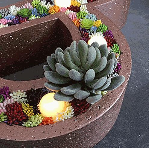 Neomark Realistic Cute Green Home Garden Faux Succulent
