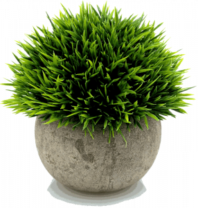 Velener Mini Fake Potted Green Grass for Home Decor