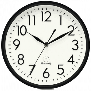 DreamSky Silent Non-Ticking Quartz Wall Clock