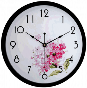 HITO Modern Colorful Floral Silent Non-ticking Wall Clock
