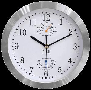 HITO Silent Wall Clock Aluminum Frame