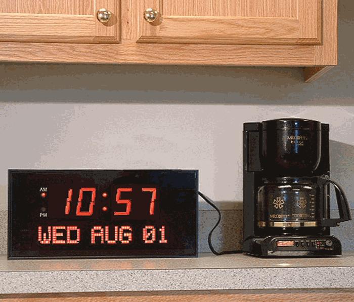 Live Oak Dynamic Living Oversized Led Calendar Clock