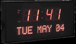 Live Oak Dynamic Living Oversized Led Calendar Wall Clock