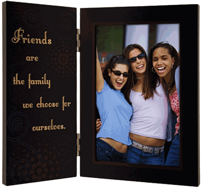 Malden Friends are the Family We Choose for Ourselves hinged Picture Frame