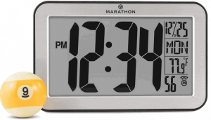 Marathon Panoramic Atomic Self-setting Self-adjusting Wall Clock