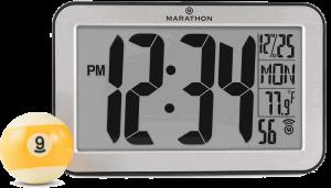 Marathon Panoramic Atomic Self-setting Self-adjusting Wall Clock