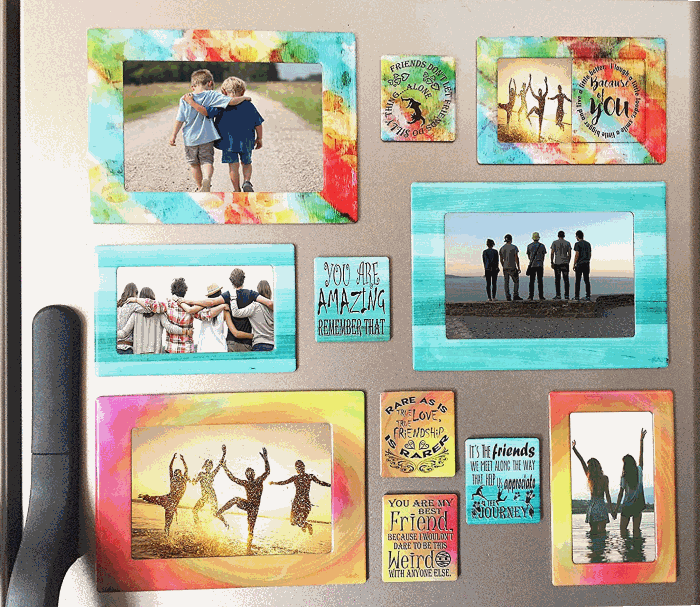Sheen Magnetic Picture Frame and Refrigerator Magnet Set