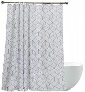 Aimjerry Resistant Fabric Shower Curtain