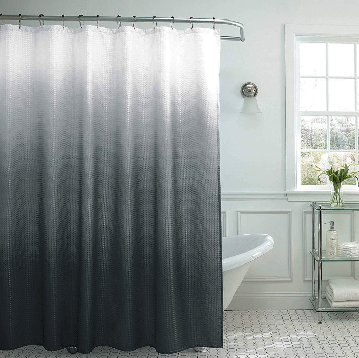 Creative Home Ideas Natural Ombre Textured Shower Curtain