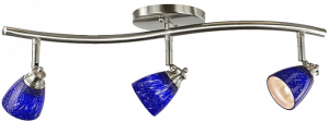 Direct Lighting Blue Glass Track Lights
