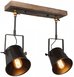 LNC Wood Close to Ceiling Spotlights