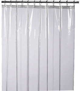 LiBa Mildew Resistant Anti-Bacterial PEVA 8G Shower Curtain Liner