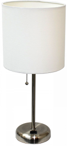 Limelights LT2024 Brushed Steel Lamp